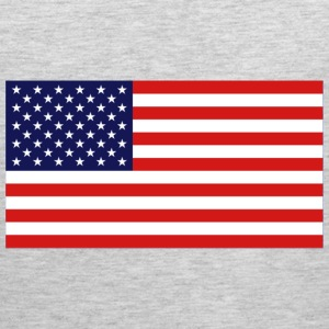 American Flag Design T-Shirts - Men's Premium Tank