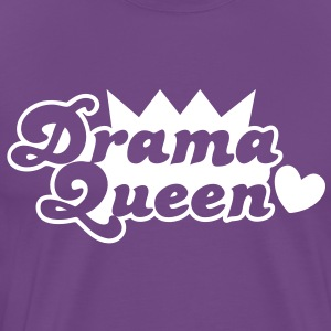 drama queen with love heart T-Shirts - Men's Premium T-Shirt