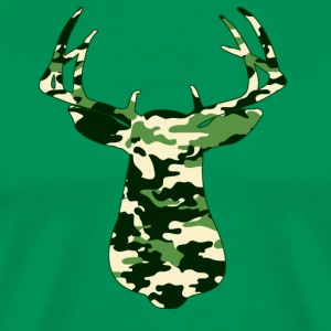 BUCK IN GREEN CAMO - VECTOR GRAPHIC T-Shirts - Men's Premium T-Shirt