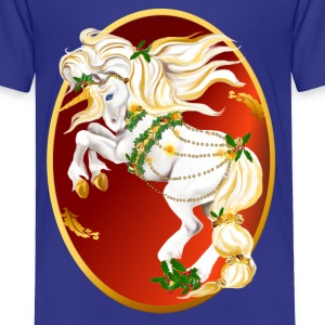 Christmas Unicorn Oval - Toddler Premium T-Shirt