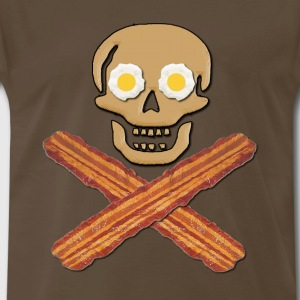Bacon Pirate Food T-Shirts - Men's Premium T-Shirt
