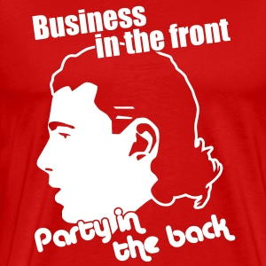 Party in the Back, Hockey Mullet T-Shirts - Men's Premium T-Shirt