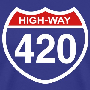 420 HIGHway weed blunt medical pot marijuana  T SHIRT - Men's Premium T-Shirt