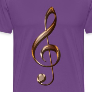 Music-lover Metallic-effect Treble Clef - Men's Premium T-Shirt