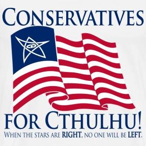 Conservatives for Cthulhu! (dark)  - Men's Premium T-Shirt