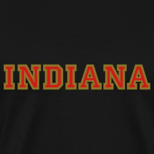 Indiana College Style T-Shirt - Men's Premium T-Shirt