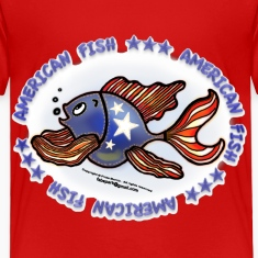 AMERICAN FISH, RED WHITE BLUE FISH, Jeans fish