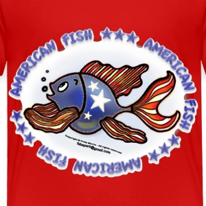 AMERICAN FISH, RED WHITE BLUE FISH, Jeans fish   - Toddler Premium T-Shirt