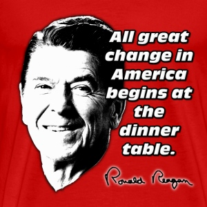 Reagan Quote All Great Change in America Begins At T-Shirts - Men's Premium T-Shirt