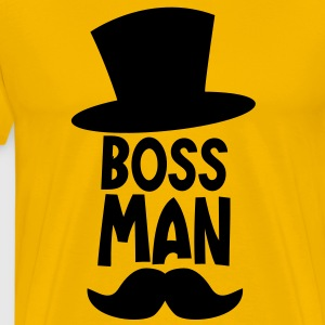 BOSS MAN moustache T-Shirts - Men's Premium T-Shirt