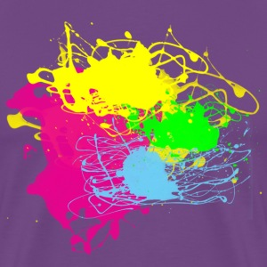 Multi Color Paint Splatter! - Men's Premium T-Shirt