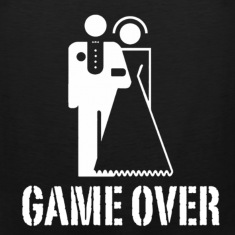 Game Over Marriage Design T-Shirts