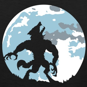 The werewolf in the moonlight T-Shirts - Men's Premium Tank