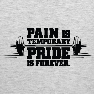 Pain Is Temporary Gym Motivation Tank Tops - Men's Premium Tank