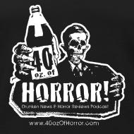 Design ~ Dude's Tank - 40oz Of Horror Podcast Logo