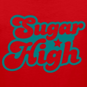 sugar high blue in a funky font T-Shirts - Men's Premium Tank