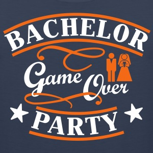 bachelor party game over T-Shirts - Men's Premium Tank