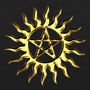 Pentagramme - Pentagram - Blazing Star- ancient magic symbol, DD, protective amulet, energy symbol T-Shirts - Men's Premium Tank