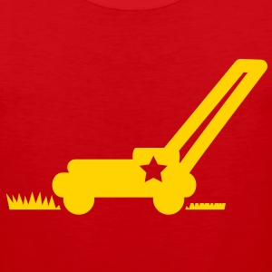 LAWN mower cutting grass with a star T-Shirts - Men's Premium Tank