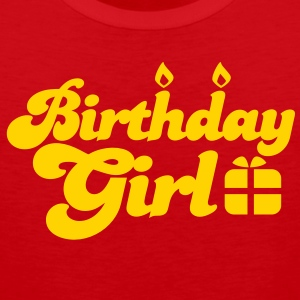 birthday girl new with present T-Shirts - Men's Premium Tank
