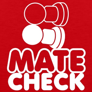 MATE CHECK sexy chess pieces wordplay on checkmate T-Shirts - Men's Premium Tank