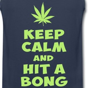 keep calm and hit a bong T-Shirts - Men's Premium Tank