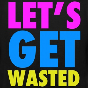 Let's Get Wasted Neon Party Design T-Shirts - Men's Premium Tank