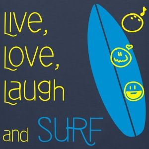 Live, Love, Laugh & Surf - Men's Premium Tank