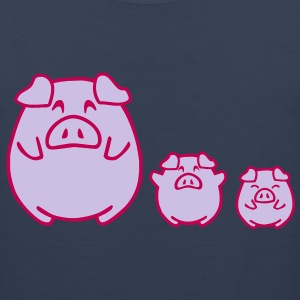 three cute pigs T-Shirts - Men's Premium Tank