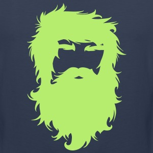 Beard Man Hairy Face Mustache T-Shirts - Men's Premium Tank