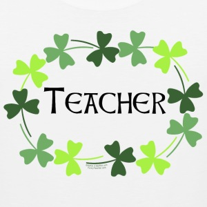 Teacher Shamrock Oval T-Shirts - Men's Premium Tank
