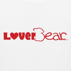 LoverBear logo Tank Top--white