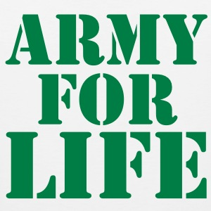 ARMY for LIFE in stencil really bold T-Shirts - Men's Premium Tank