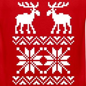 Moose Pattern Christmas Sweater - Men's Premium Tank