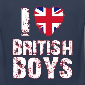 i love british boys T-Shirts - Men's Premium Tank