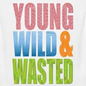 young WILD AND WASTED T-Shirts - Men's Premium Tank