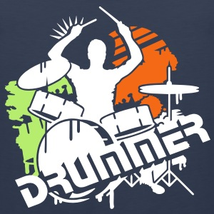 A drummer and his drums T-Shirts - Men's Premium Tank