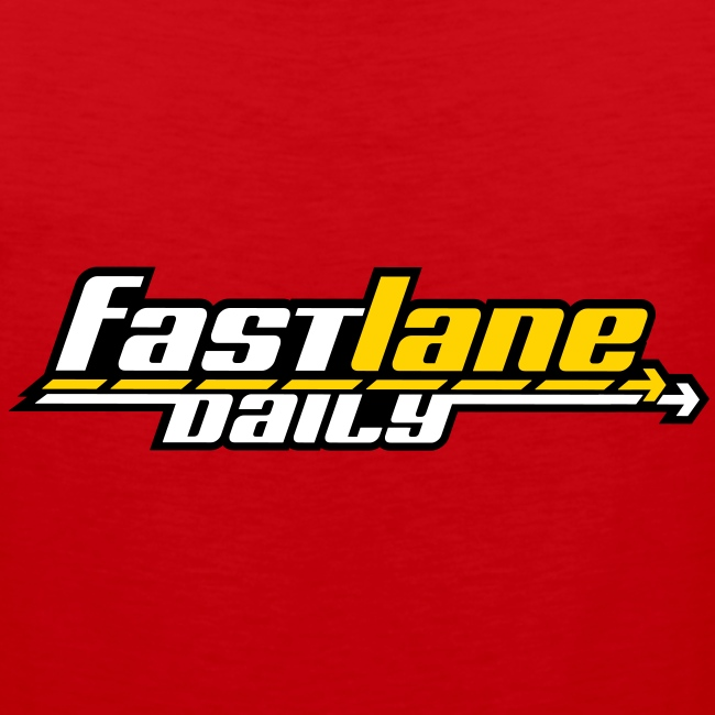 Fast Lane Daily logo on Men's Tank Top