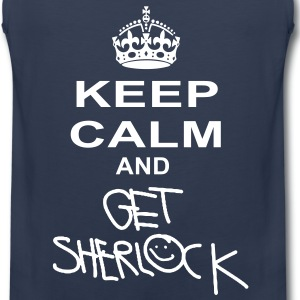 keep calm and get sherlock T-Shirts - Men's Premium Tank