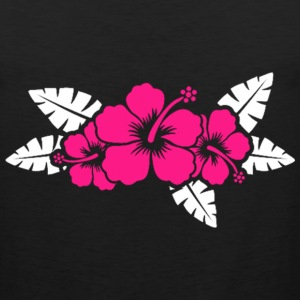Hawaiian Flower Floral Design T-Shirts - Men's Premium Tank