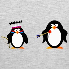 little penguin indian 3 - digital T-Shirts
