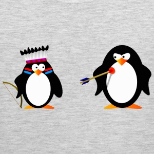 little penguin indian 3 - digital T-Shirts - Men's Premium Tank