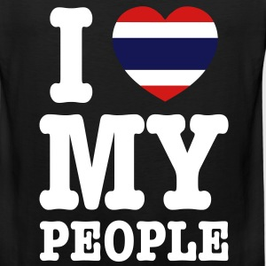 I Heart (Love) My Thai People - Men's Premium Tank