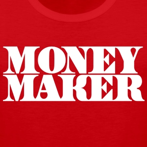 money maker in cash font T-Shirts - Men's Premium Tank