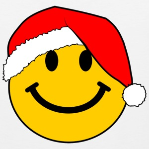 Santa Smiley Face for Christmas T-Shirts - Men's Premium Tank