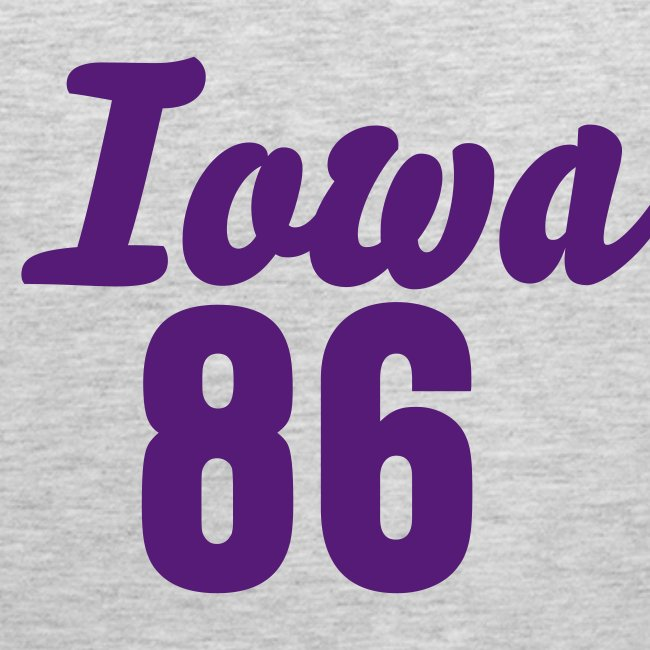 Iowa 86 (Number On Back Also)
