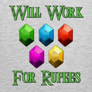 Will Work For Rupees Zelda T-Shirts - Men's Premium Tank