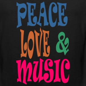 Peace Love n Music - Men's Premium Tank