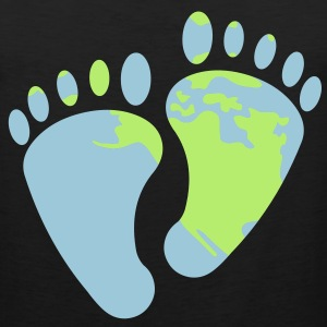 Earth Footprints T-Shirts - Men's Premium Tank