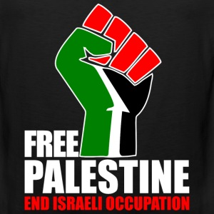 Free Palestine end Israeli Occupation T-Shirts - Men's Premium Tank